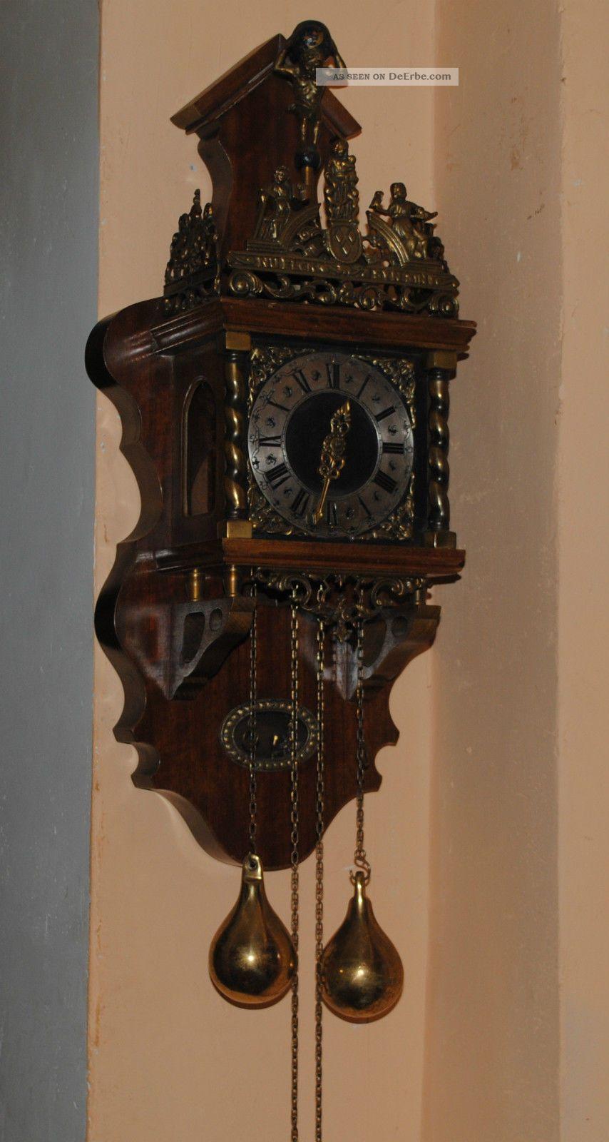 Alte Uhr Wanduhr Pendeluhr Wuba Gefertigt 1960  1970