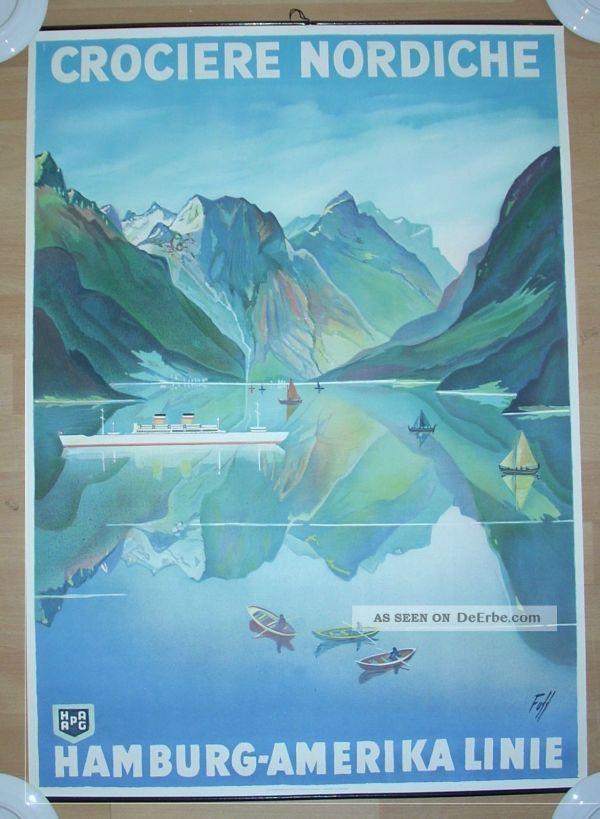 Reedereiplakat Hapag Plakat Fuss Schiffahrt Maritim Poster