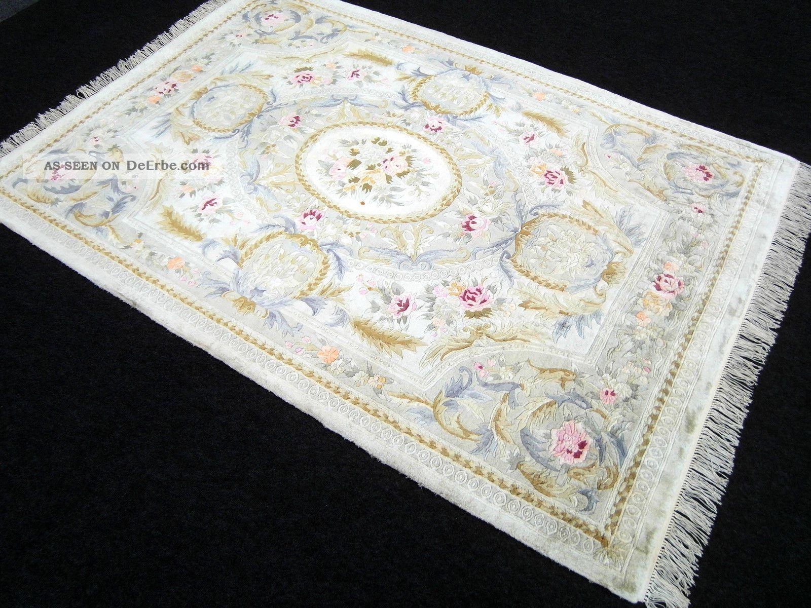 Chinesischer Seiden Teppich 241 X 169 Cm Orientteppich China Silk Rug Carpet