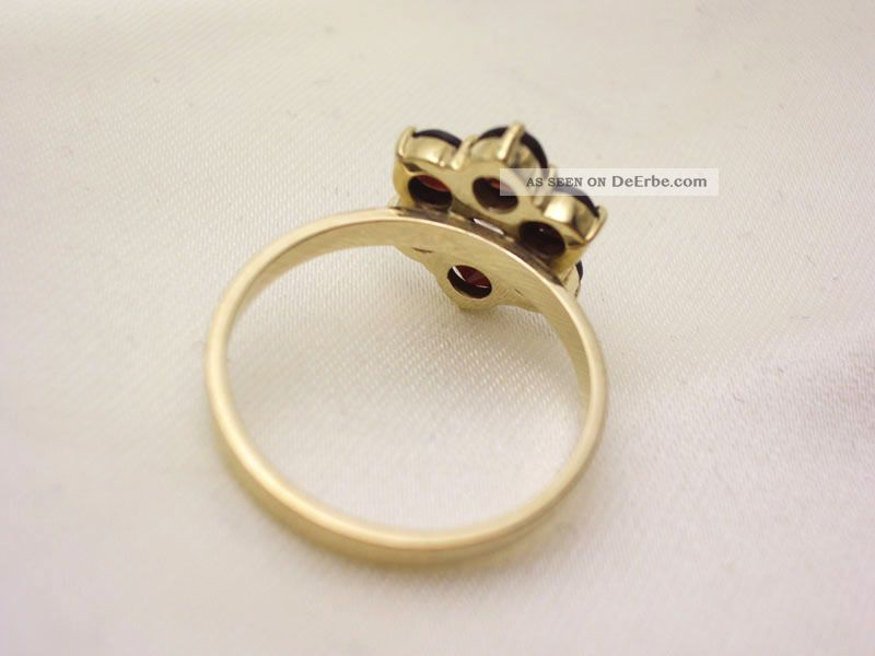 Alter Ring 333 Gold Böhmische Granate 17 Mm
