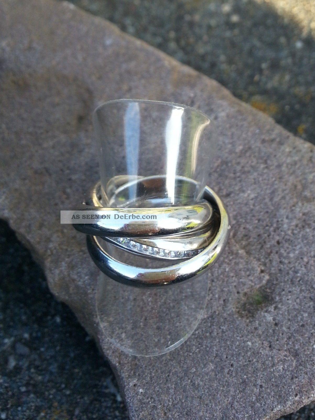 Ring Mit Vielen Zirkonia Silber 925 Tchibo Silberring Drei