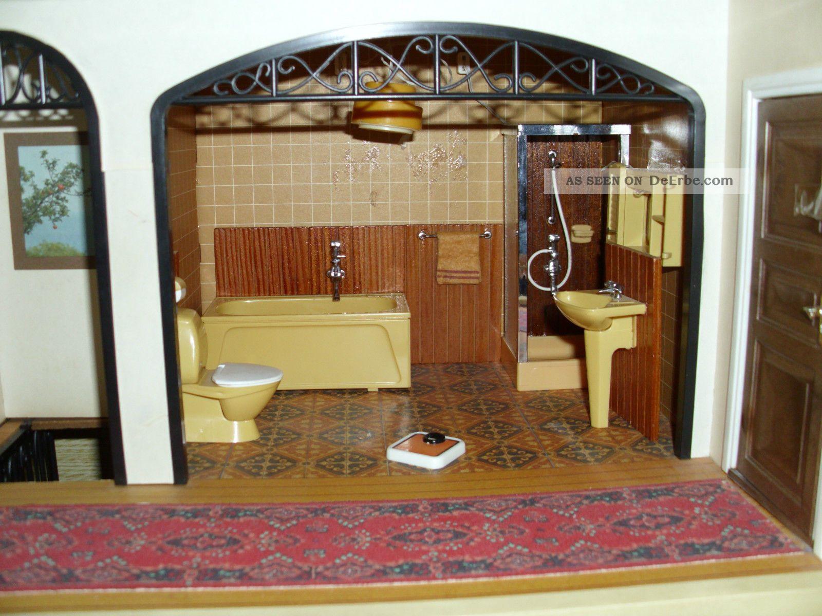 Lundby Smaland 1:18 Puppenhaus Badezimmer Möbel Bad und Dusche Set Puppenstuben & -häuser
