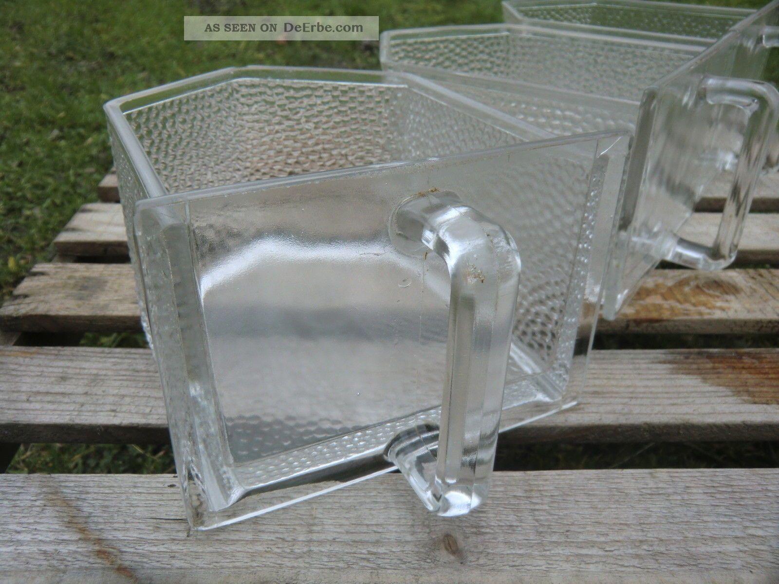 3 Alte Groe Glas  Schtten Kche  Von Poncet  Um 1920  30