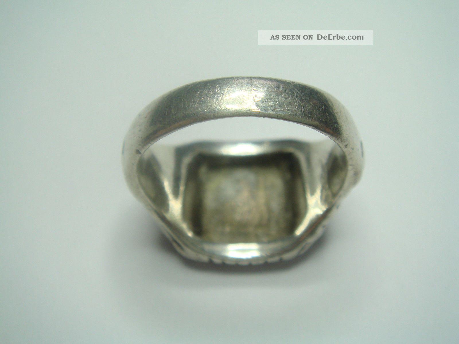 Antiker Art Deco Herren Monogramm Ak Siegel Ring Echt