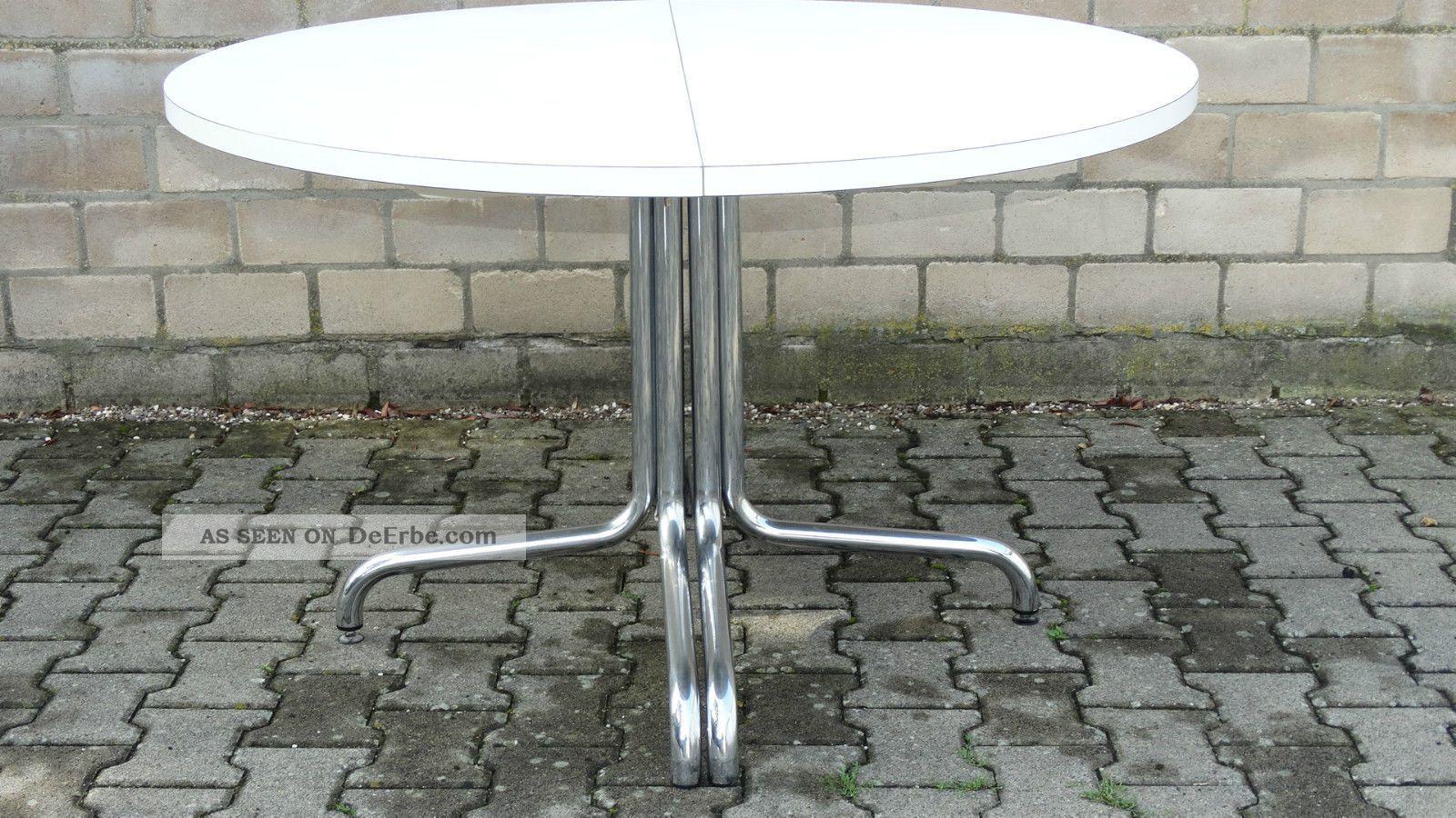 Thonet Tisch Holztisch Chrom 70er Konferenztisch Esstisch