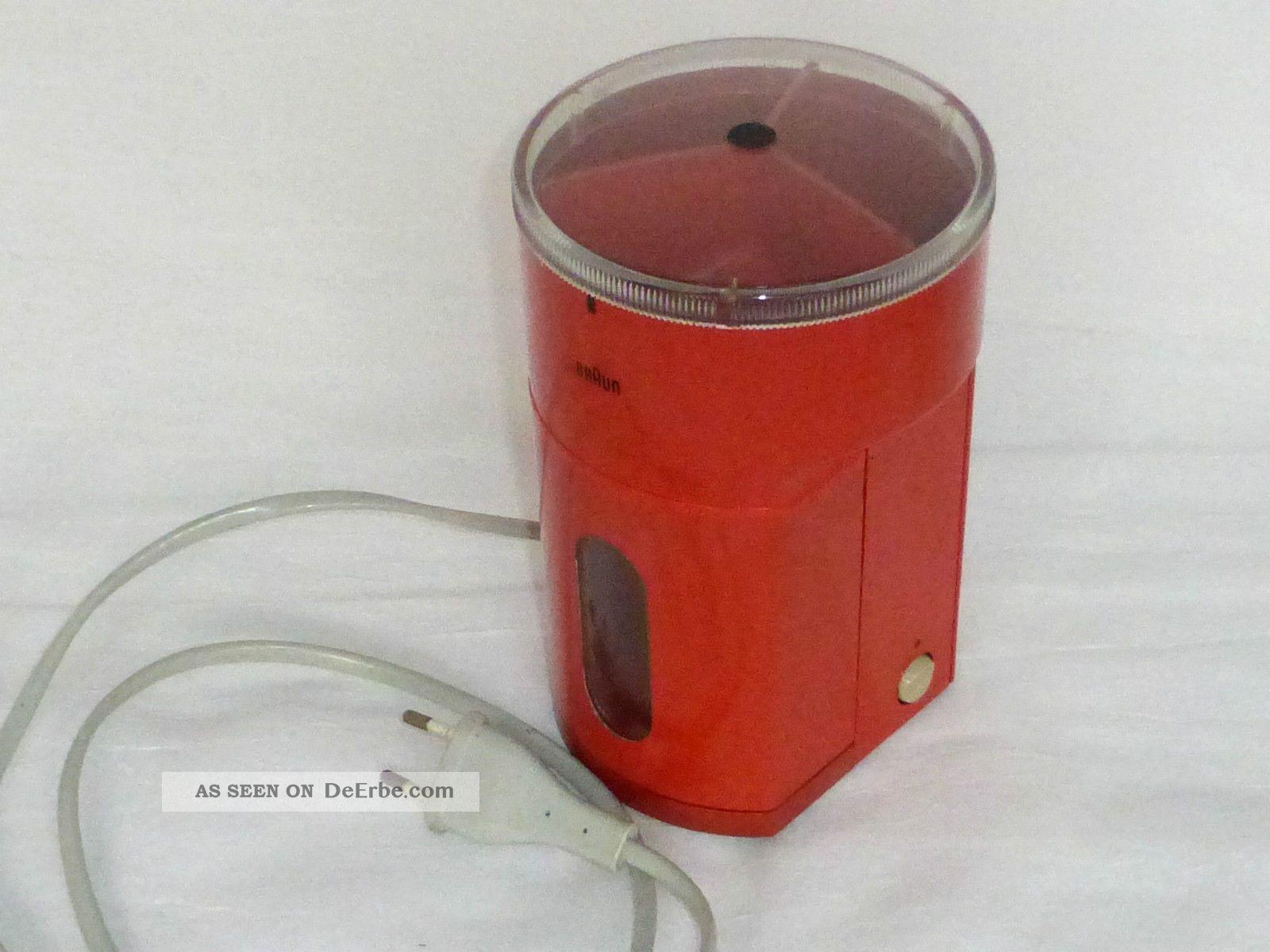 Braun Kmm2 Elektronische Kaffeemhle Typ 4023 Vintage Kche 70 Er Jahre Orange