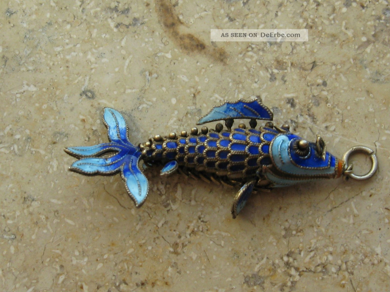 Anhnger Fisch Cloisonn Emaile