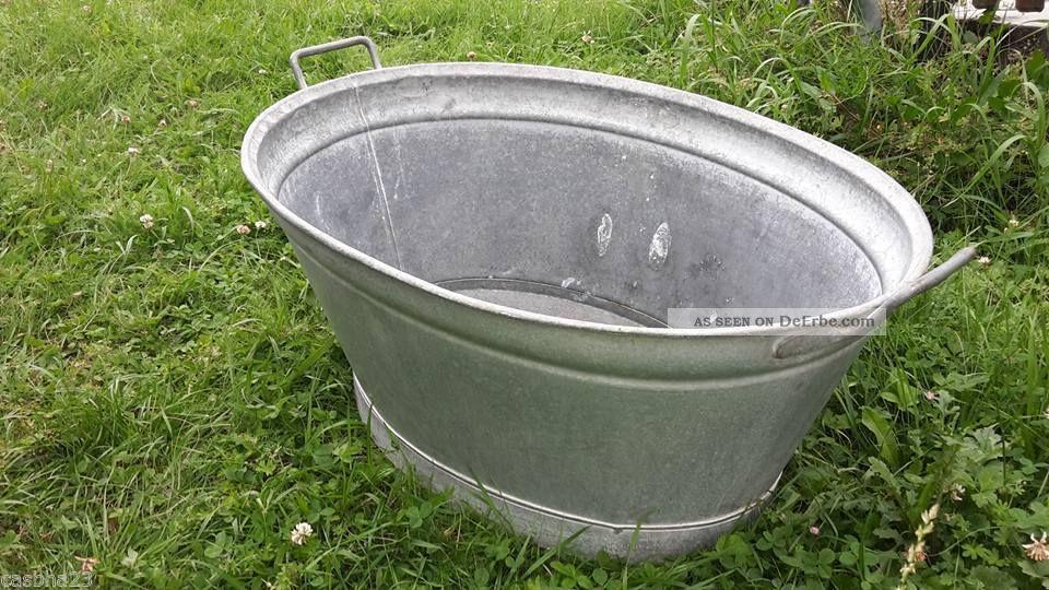 Alte Kleine Zinkwanne Badewanne Zink Wanne Wasserdicht