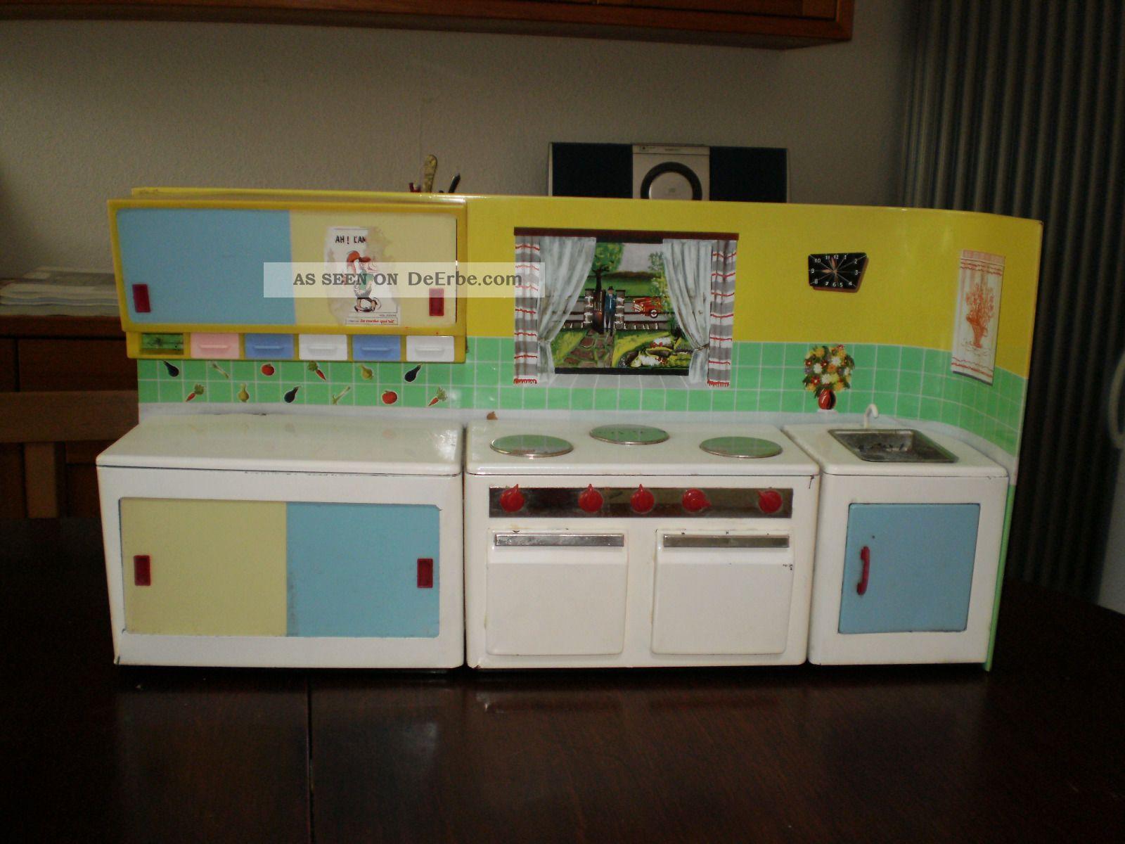 Puppenkche Spielzeug  Kche Blech 1960er  Jahre Mit Originalkarton