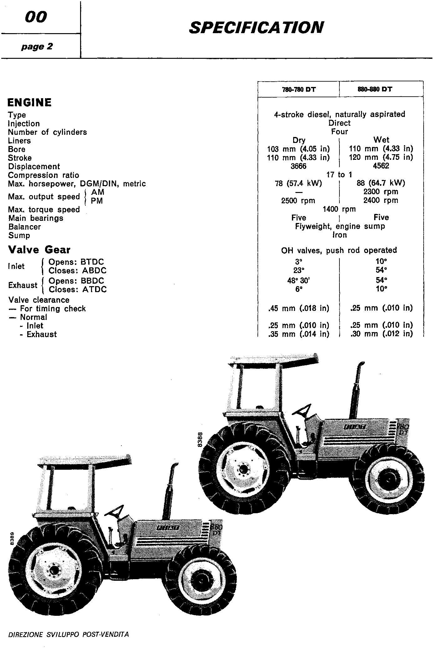 Fiat 780, 780DT, 880, 880DT Tractor Workshop Service