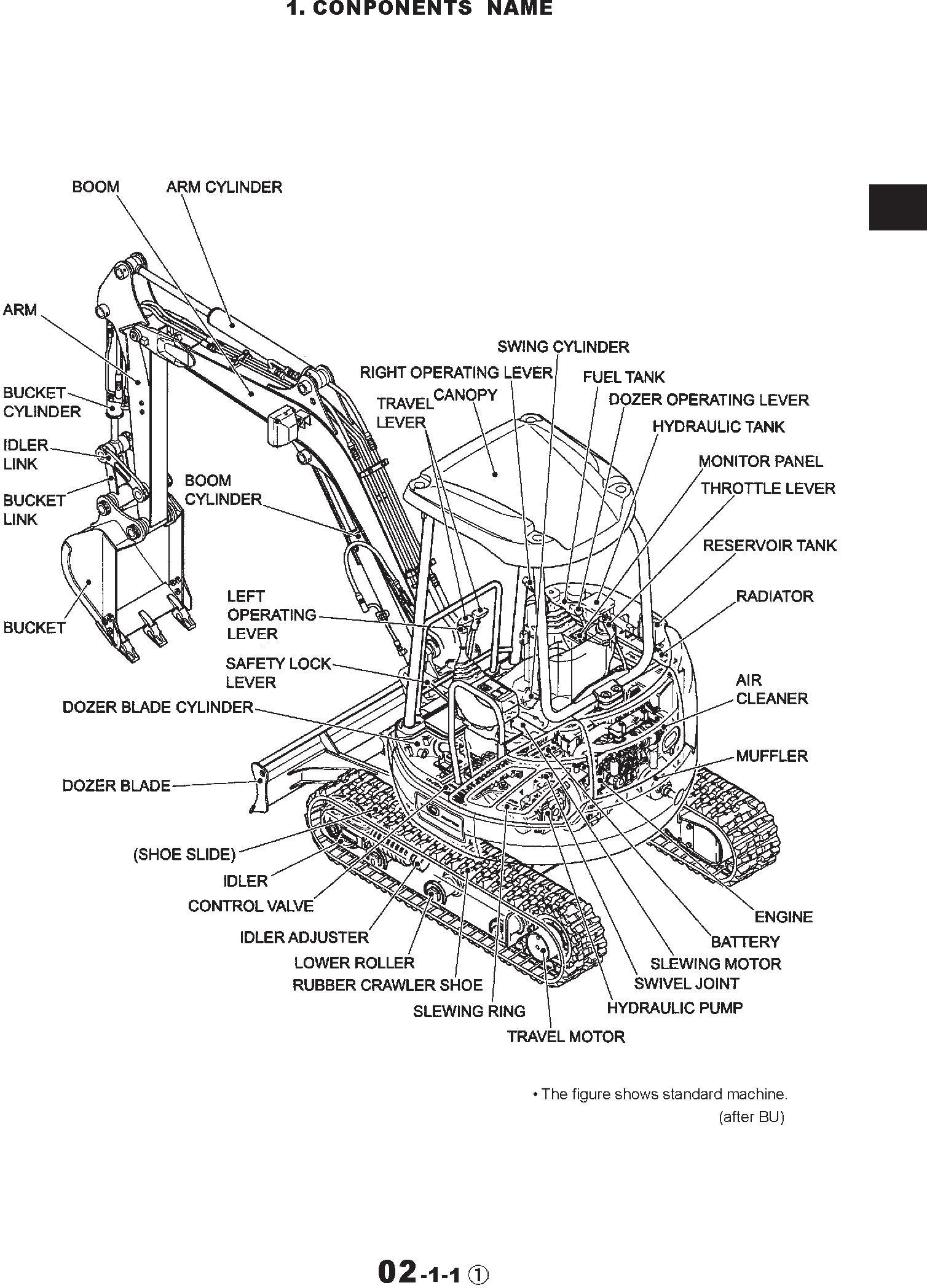 New Holland EH35 Compact Excavator Service Manual / Deere