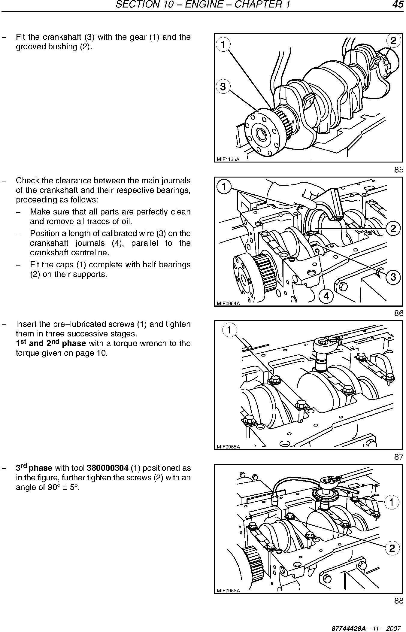 New Holland 4020, T4030, T4040, T4050 Tractors Service