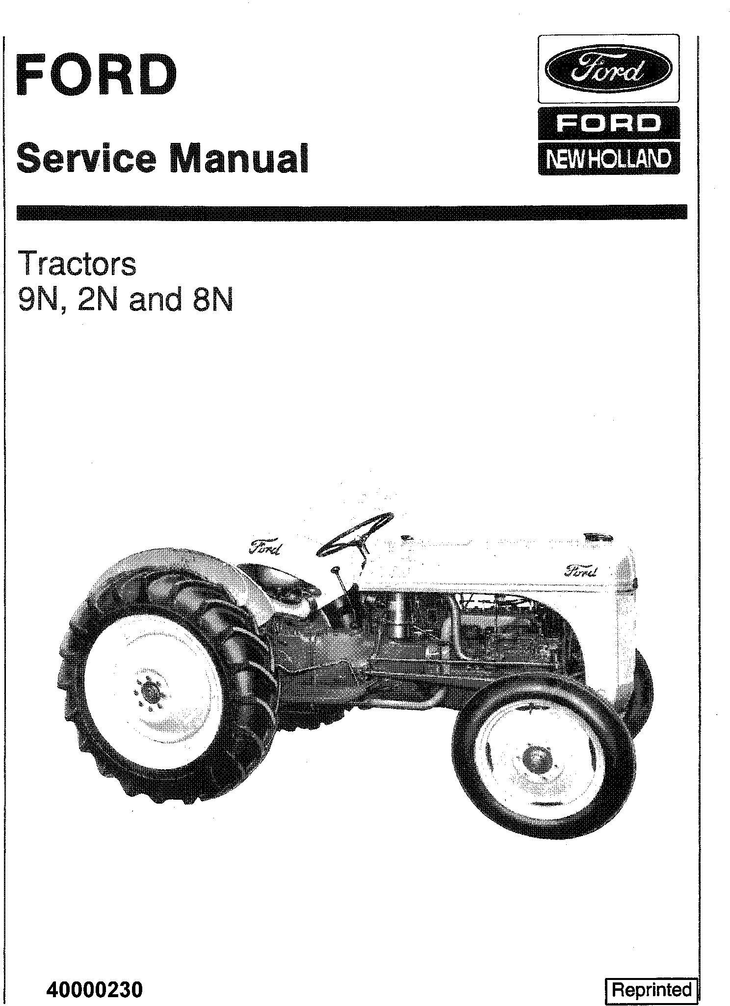Ford 9N 2N 8N Tractor Service Manual / Deere Technical Manuals