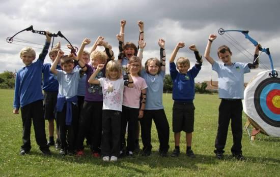 Primary School Games teams of 12 archers per team.