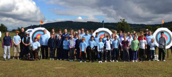 Some of our junior team and supporters, 9 others were shooting for the County on the same day!