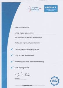 ClubMark Certificate and the feedback was excellent!