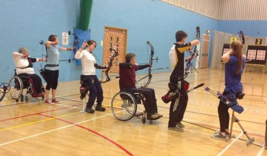 John Cavannah & Phoebe Pine with James Howse and Connie Healey who are members of the GB Junior Compound Squad.