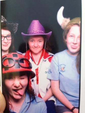 Some of our young volunteers having fun at the opening ceremony!