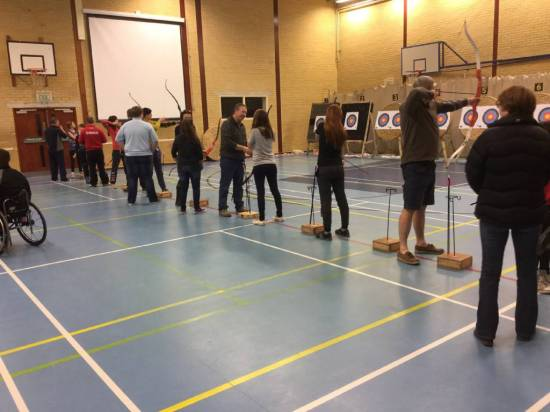 Pupils only use Genesis in after-school club so they got to try recurve