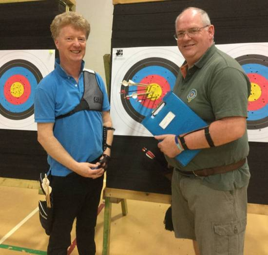 Dave Ponton & Kev Sutherland, winners of longbow and Barebow with another cracking end!