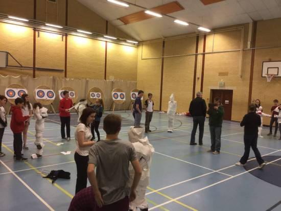 Lots of team building activities.