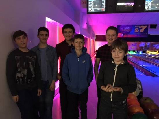 Second team at Bowling evening.