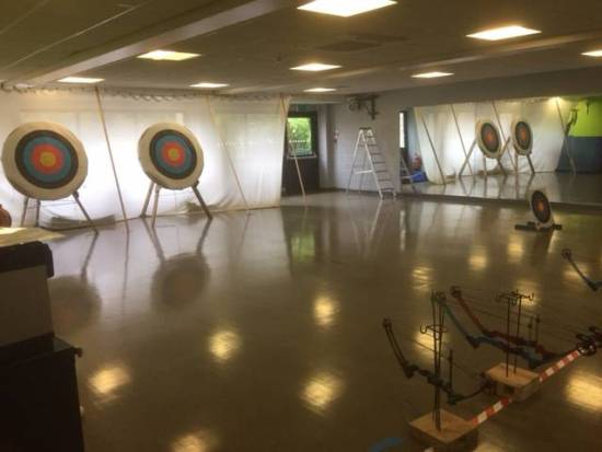 Unusual venue for the Generation Games Archery.