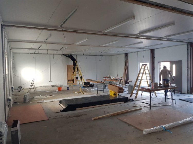 Work being carried out on the internal activity area.