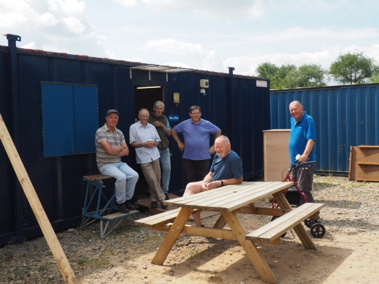 Weekly men-in-shed. Voluntary work and great social event!