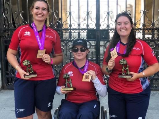 Ella, Jessica & Lucy with their World Championship Junior Ladies Compound Bronze.
