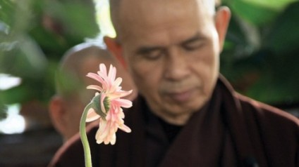 Thich Nhat Hanh and Flower