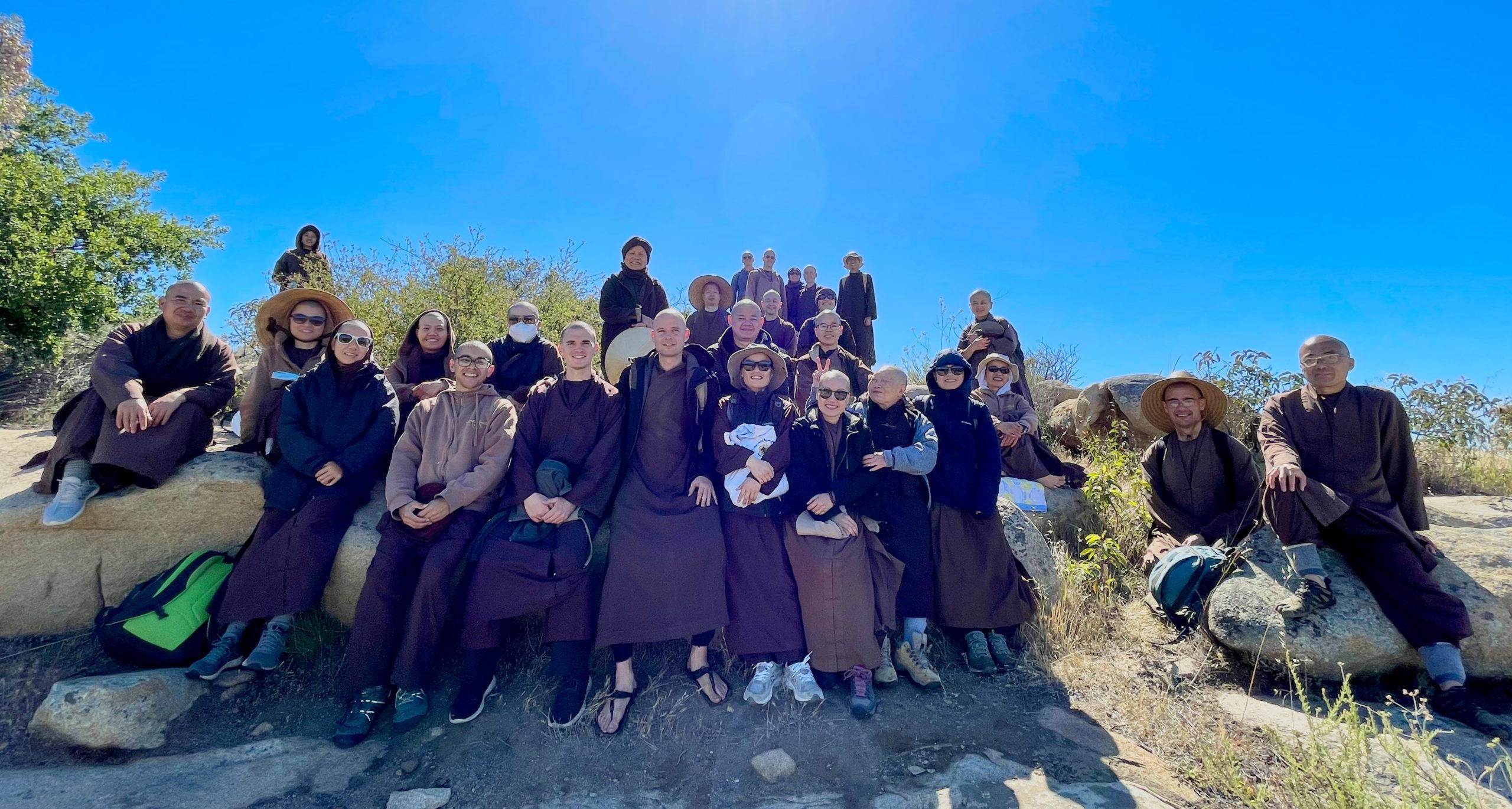 Monastic Sangha on the Mountain