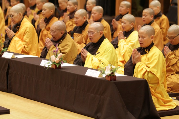 Chanting at Great Precepts Transmission Ceremony 2021
