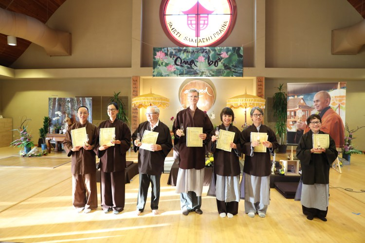 Lay Lamp Recipients at Great Precepts Transmission Ceremony 2021