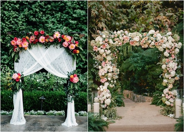 Top 20 Floral Wedding Arch Canopy Ideas