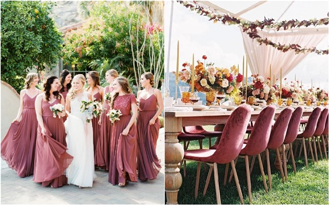 Wedding Color Trends: 25 Cinnamon Rose Wedding Color Ideas