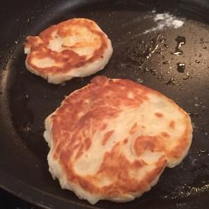 Making Ricotta pancakes