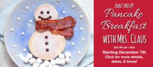 Pancake Breakfast with Mrs. Claus @ Dees' Nursery