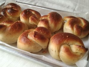 Home-baked Garlic Knots