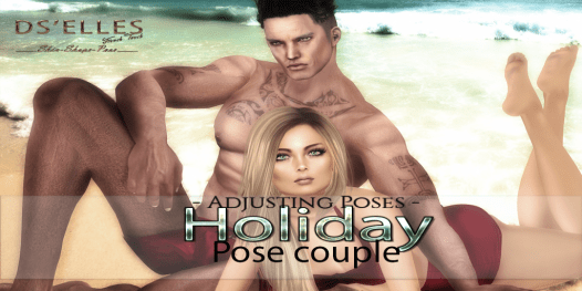 Affiche holiday pose couple DS'ELLES