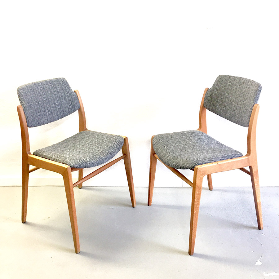 Scandinavian Chair Set 2 50s Scandinavian Chairs