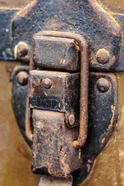Print of a Latch from a 1940's Army Storage Chest Photo