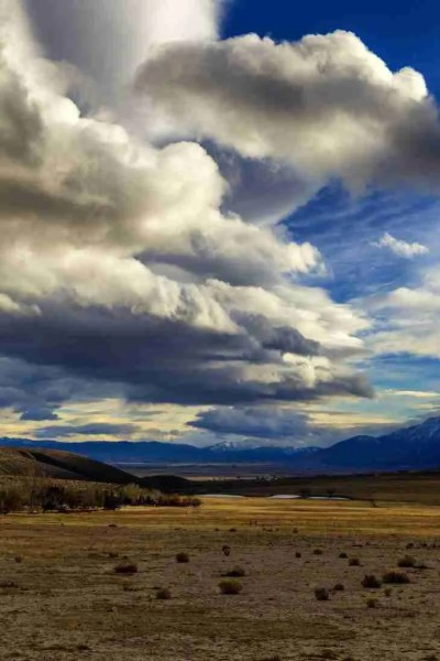 Print of Carson Valley on a Cloudy Winter Day Photo