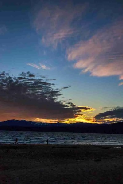 Print of Sunset Behind Mountains at Tahoe Photo
