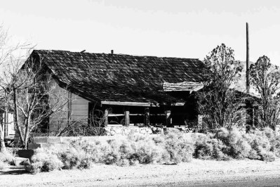 Print of an Abandoned Restaurant along Highway 395 Photo