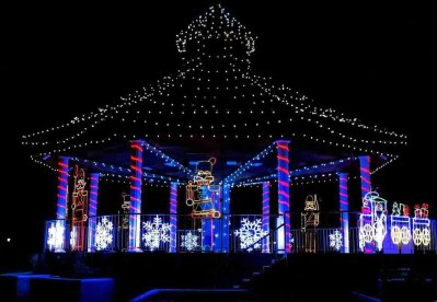 Print of Gazebo Decorated in Christmas Lights in Minden Nevada Photo