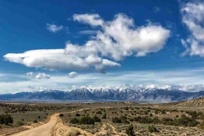 Print of Snow Capped Sierra Nevada Mountains