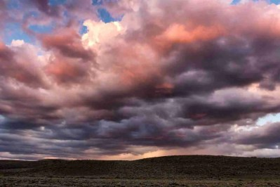 Print of the Storm Clouds over Smith Valley at Sunset