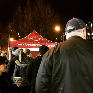 Queuing for the smoked meats