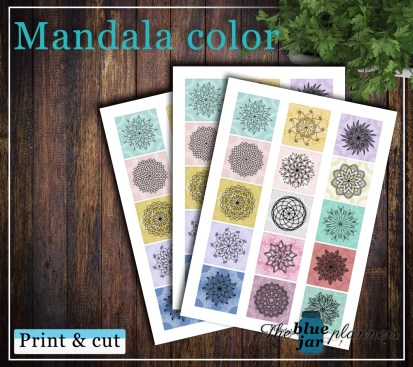 Mandala color printable